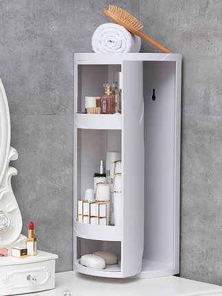 Floor Standing Bathroom Storage Shelf Vanity Storage Rack Corner Wall Suction Cabinets Storage Holders Racks Aliexpress