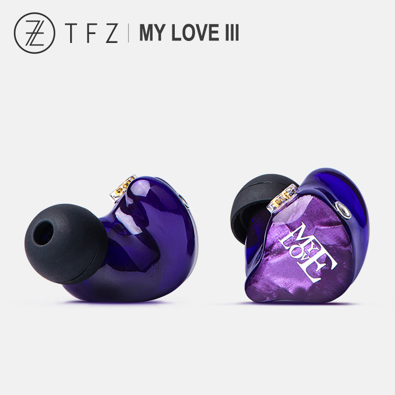 TFZ My Love III Graphene Double Dynamic Driver HiFi In-ear Earphone IEM with 2pin/0.78mm Detachable cable For iphone Huawei