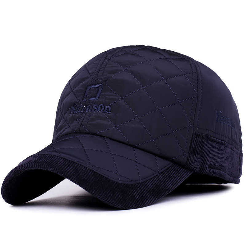 2017 Sıcak Kış beyzbol şapkası Erkekler Marka Snapback Siyah Katı Kemik Beyzbol Erkek Kış Şapka