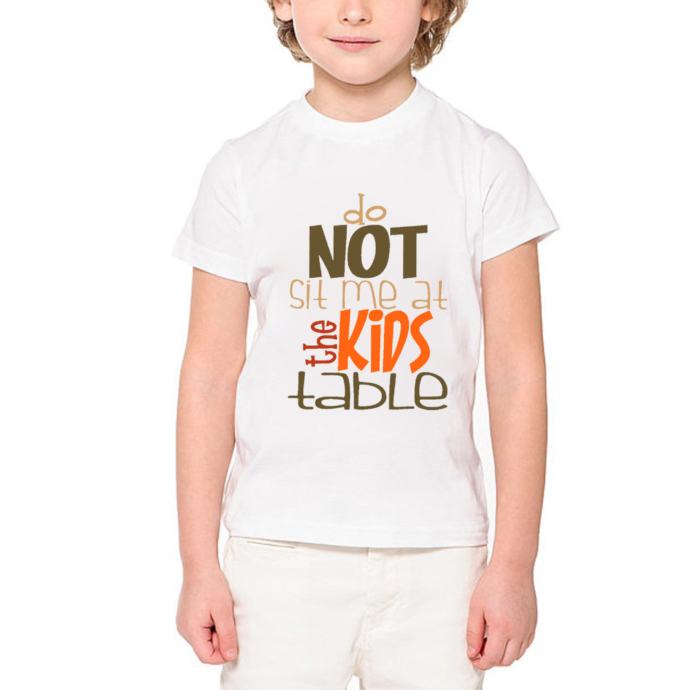 0f2c5283 Kids Thanksgiving shirt turkey day gobble outfit baby clothes letter t shirt  for boy Children Festival Tshirt Girls ETM R2125-in Matching Family Outfits  ...