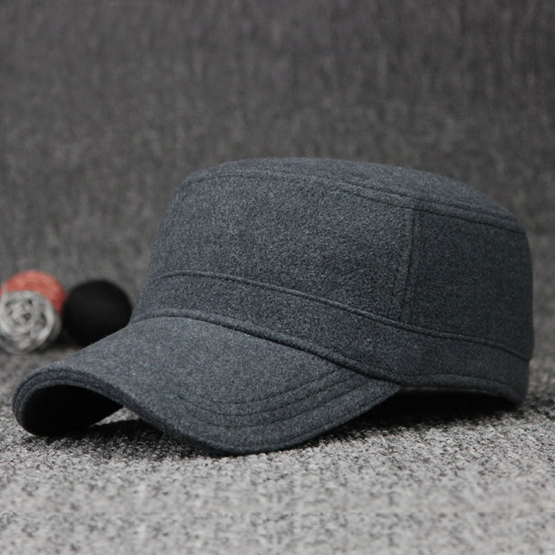576c96eb9be Men Women Adjustable Military Army Style Cap Classic Plain Hat Flat Top  Winter-in Visors from Apparel Accessories on Aliexpress.com