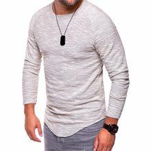 Men s t-shirts striped tee shirt homme summer Oversized Arc Hem long sleeve  t shirt men hip hop tshirt streetwear slim fit 5XL 6665023c3257