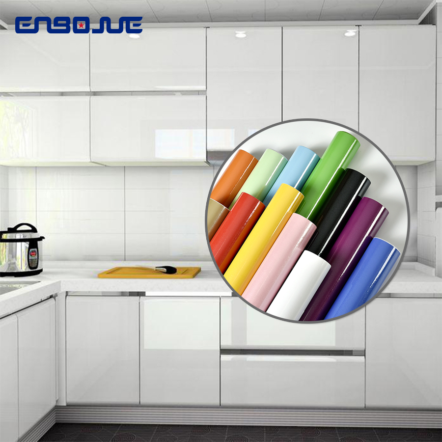 Furniture Renovation Sticker Kitchen Cabinet Wardrobe Decoration Wallpaper Bathroom Waterproof Cupboard Table Paint Wall Sticker(China)