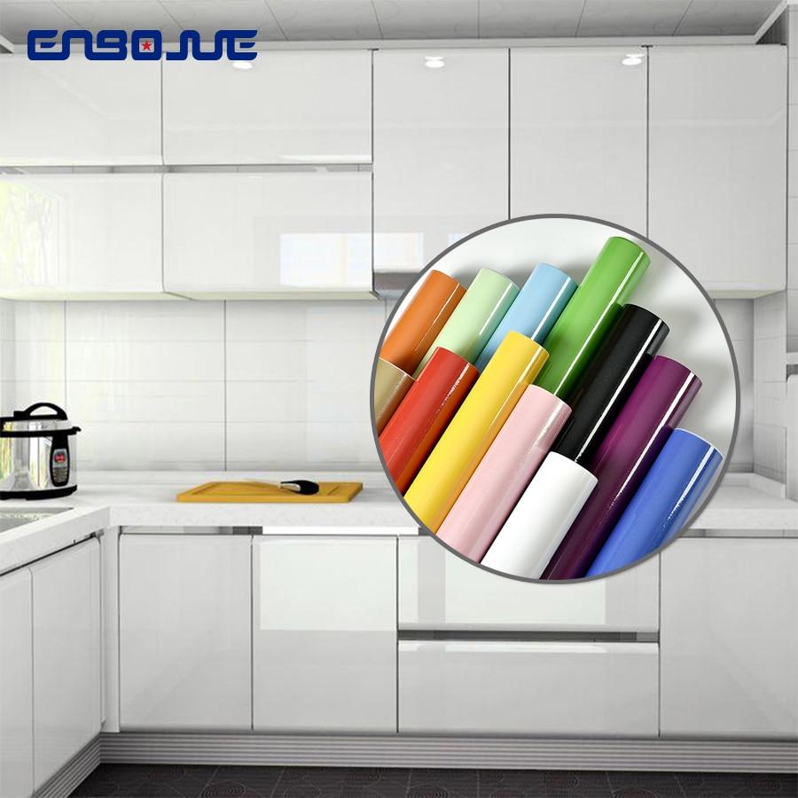 Furniture Renovation Sticker Kitchen Cabinet Wardrobe Decoration Wallpaper Bathroom Waterproof Cupboard Table Paint Wall Sticker(China)
