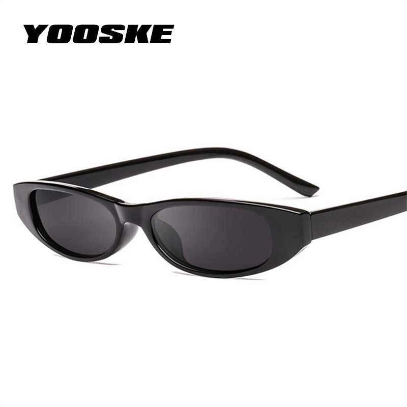 12585fc96aab YOOSKE Vintage Rectangle Cat Eye Sunglasses Women Brand Designer Ladies  Small Frame Black Sun Glasses Retro Eyewear