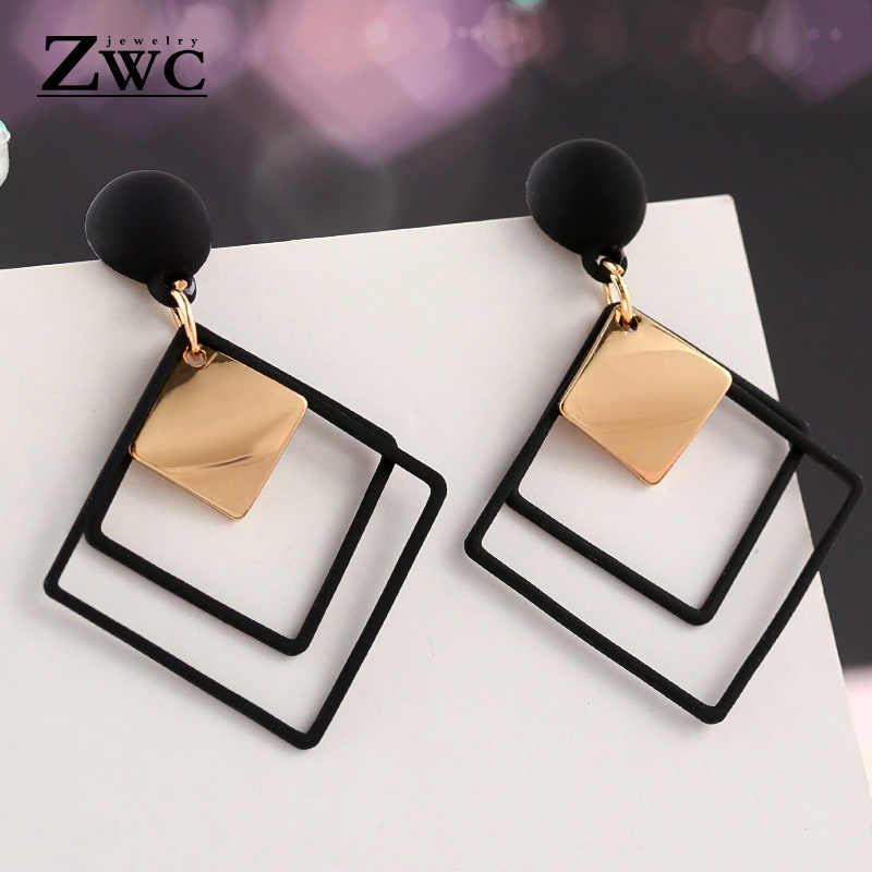 ZWC Fashion New Women's Acrylic Drop Earrings Hot Selling Long Dangling Earrings Gift For Women Party Wedding Jewelry Brincos