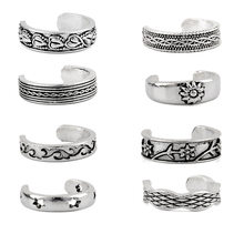 1pcs Boho Toe Ring Women Heart Flower Totem Sun Love Rings Vintage Adjustable Summer Beach knuckle Ring Ethnic Jewelry Z532(China)