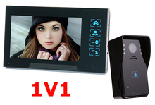 "7""color TFT LCD wired video intercom door phone Water oxidation-proof video with Electric lock-control Handfree function"