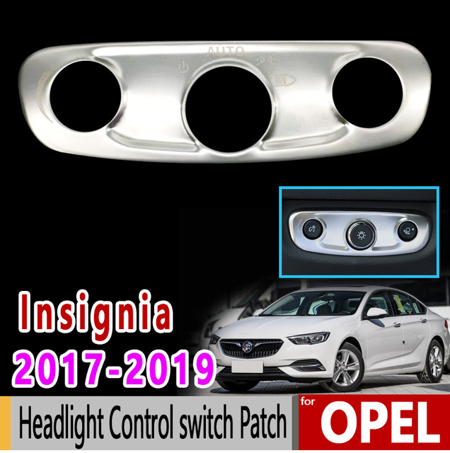 US $10 37 39% OFF|for Opel Insignia B MK2 Vauxhall Holden Commodore 2017  2018 2019 Chrome Headlight Control switch Patch Accessories Car Sticker-in
