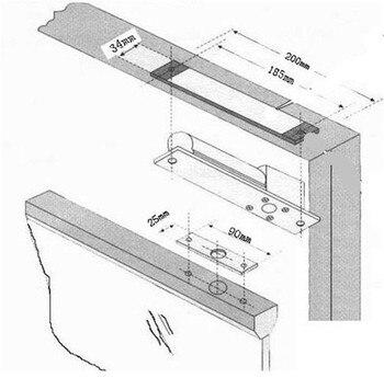 электрический замок | Бесплатная доставка, система контроля доступа для ворот, Электрический врезной замок для дверей, встроенные замки при низкой температуре