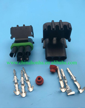 Free shipping DJ3031-2.5-11/21 CLEARANCE SALE for Delphi Weather Pack 3 Pin Weatherpack Kit 18-20 AWG 12v connector
