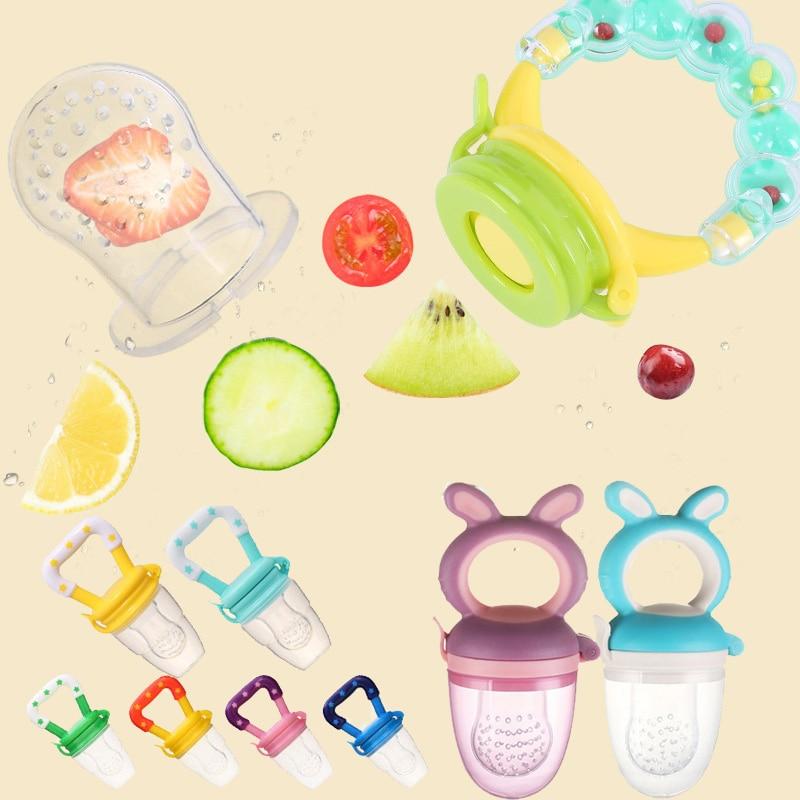 Baby Pacifier Fresh Fruit Food Kids Nipple Feeding Safe Milk Feeder Fruit Pacifier Bottles Nipple Teat Nibbler Drop Shipping