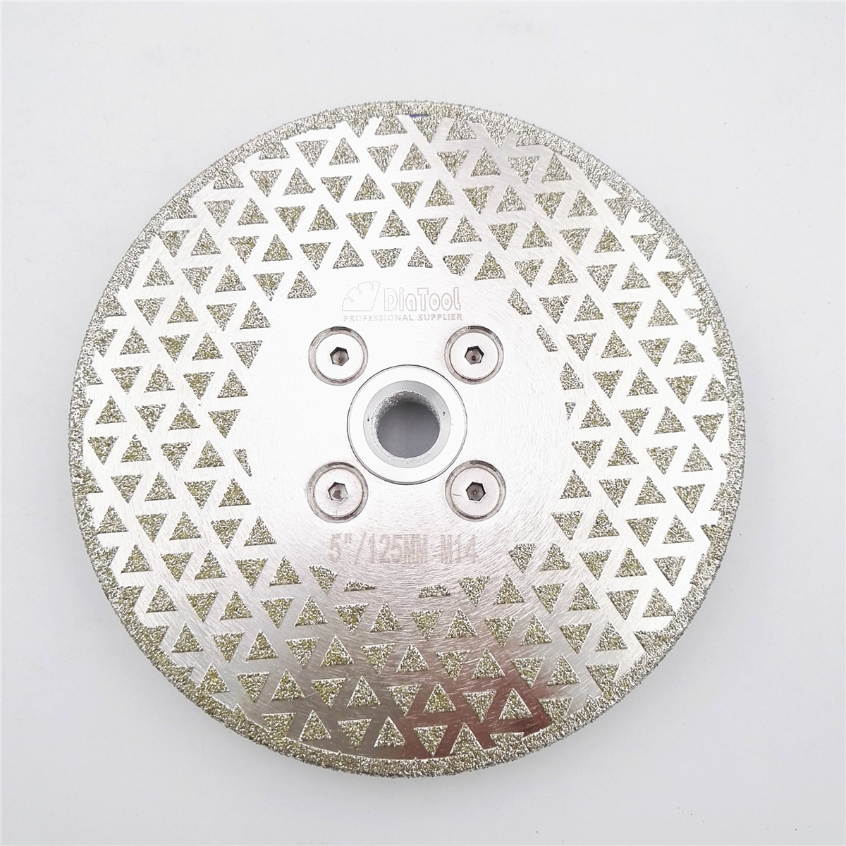 DIATOOL 5 electroplated diamond cutting and grinding disc granite marble with single grinding side M14 Flange Diamond blades цена