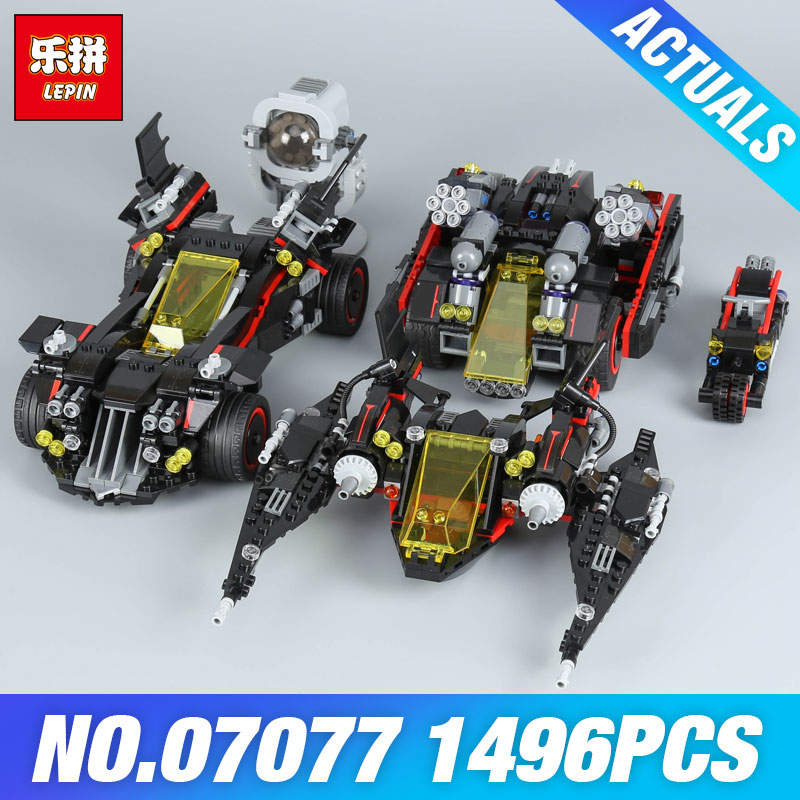 Lepin 07077 The Ultimate Batmobile Set DIY Toys Genuine Batman Movie Series Educational Building Blocks Bricks Gift Model 70917 1496pcs new super heroes batman the ultimate batmobile set 07077 diy model building blocks toys brick moive compatible with lego