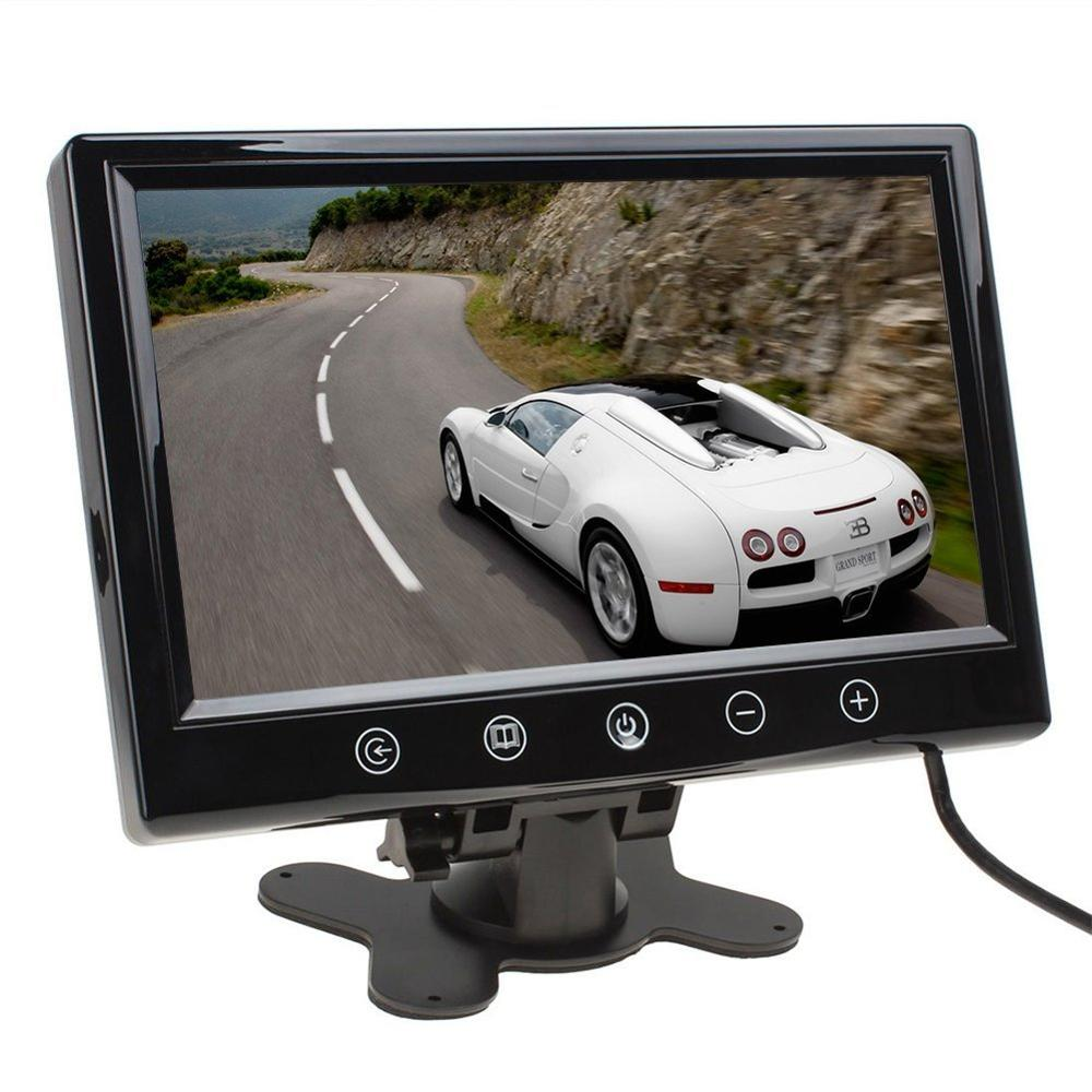 LCD Car Rearview Color Screen Monitor 9 inch with Full color LED backlight display Supports High Resolution Picture Car Reverse