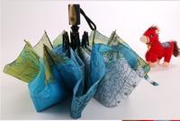 Totalmente automático mapa chuvas folding proteção solar contra os raios uv guarda-sóis