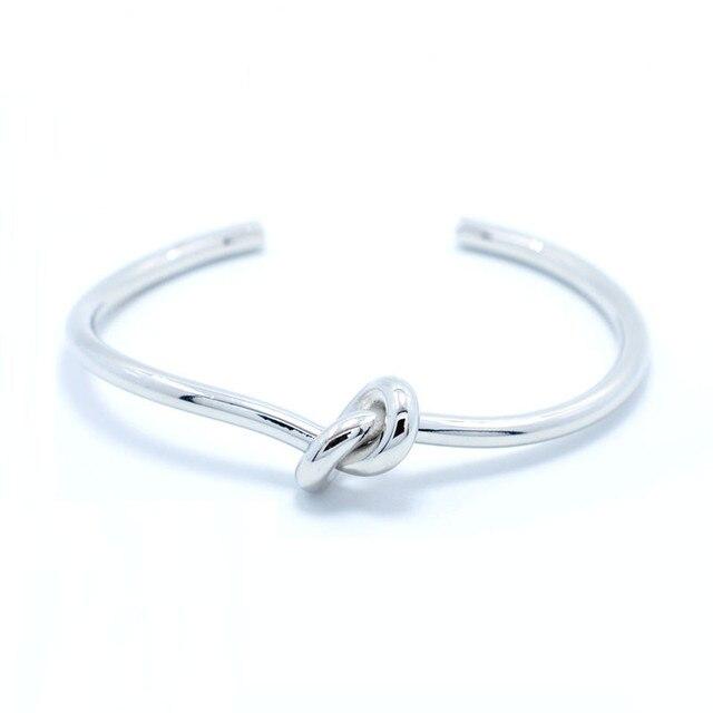 2016 Simple Noeud Manchette Bracelet Manchette Or Bracelet Bracelet Pour Les Femmes En Gros Pulseiras de demoiselle d'honneur Bijoux Noeud Bracelet Hommes