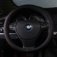 car steering wheel cover genuine leather non slip accessories for chevrolet cruze skoda octavia toyota corolla kia ceed mazda 3