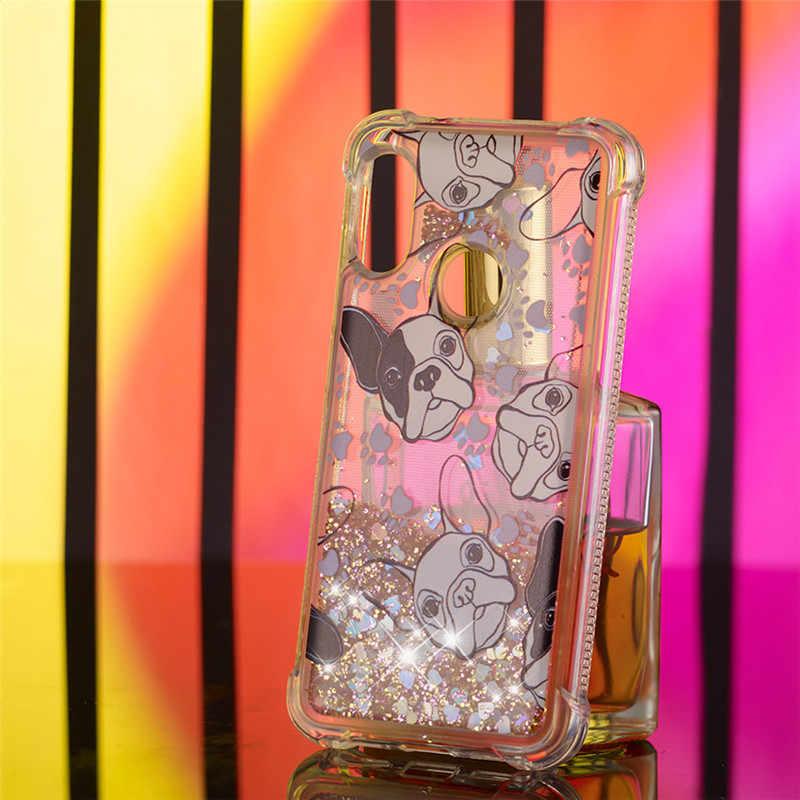 Ultra Hybrid Case for Xiaomi Mi A2 Lite 5x A1 Redmi S2 Y2 Y1 6 6a Note 4 4x 5 Pro 5a Prime Plus Silicon Glitter Quicksand Cover