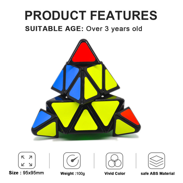 Speed Cubes Sticker cubo Less Pyramid Magic Cubes Puzzle Toys for Adults Learning Magical Puzzles Toys