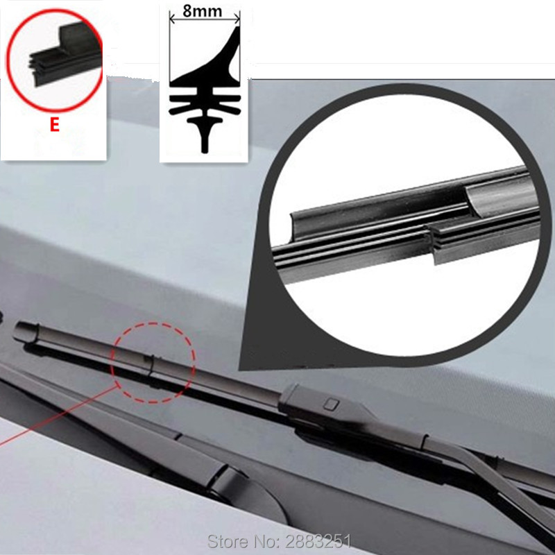 For FORD FOCUS Front Wiper Blade Replacment Rubber Pair Refills