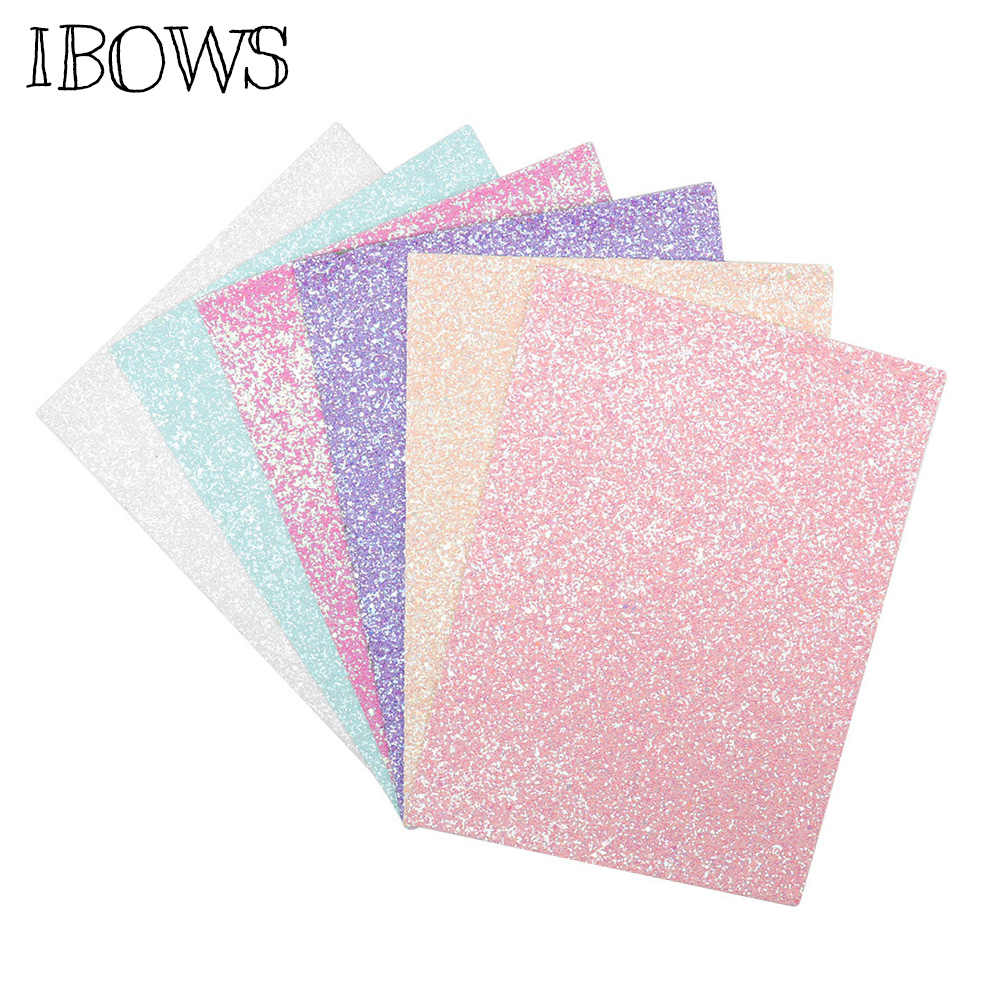22*30cm Candy Color Glitter Leather Fabric Solid Shiny Sequins Sheets DIY Accessories Fabric Handmade Crafts Patchwork Material