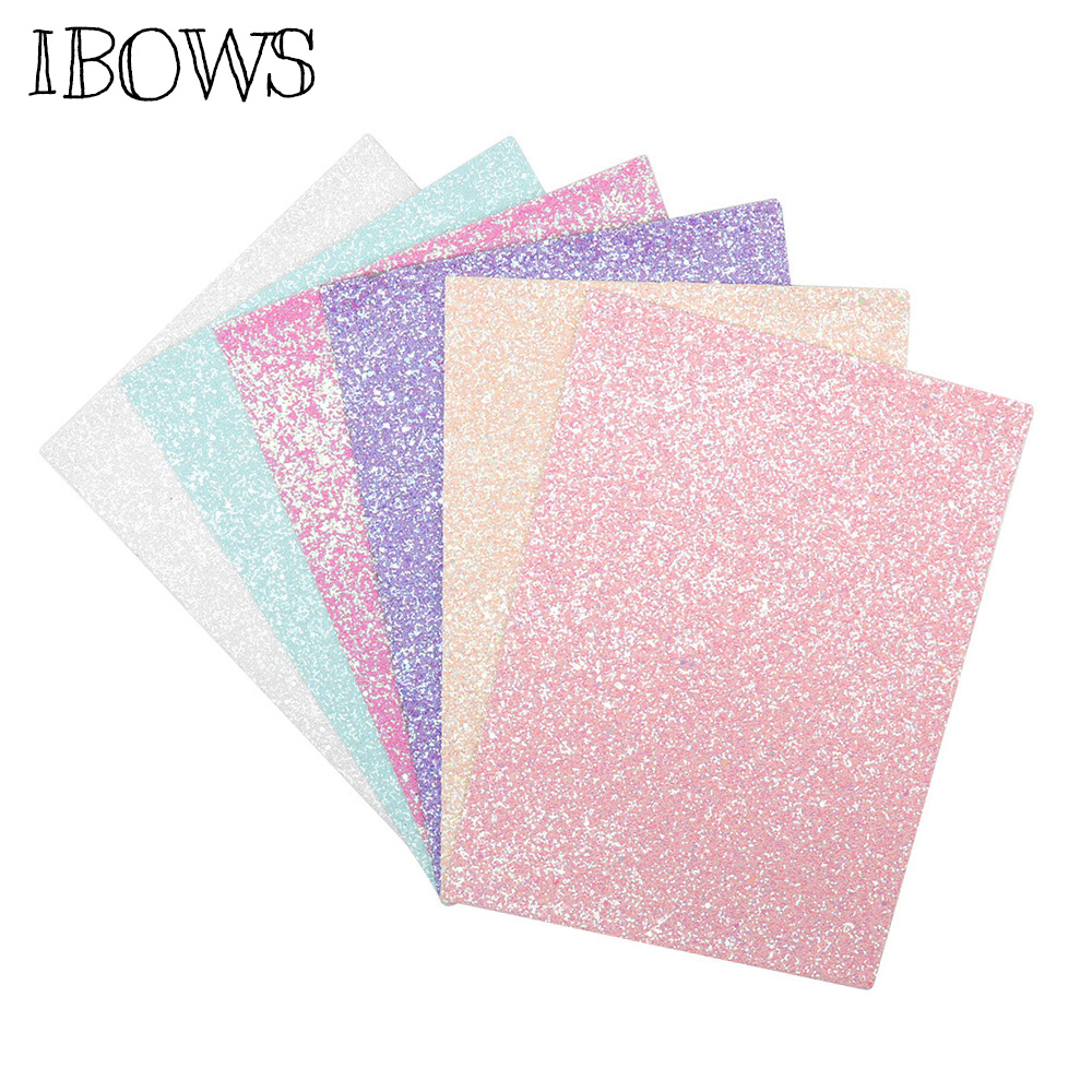 B 20 cm x 34 cm David Angie Lace Glitter Faux Leather Sheet 5 Pcs 8 x 13 Glitter Canvas Fabric Sheet for Earrings Bags Making Handmade Crafts