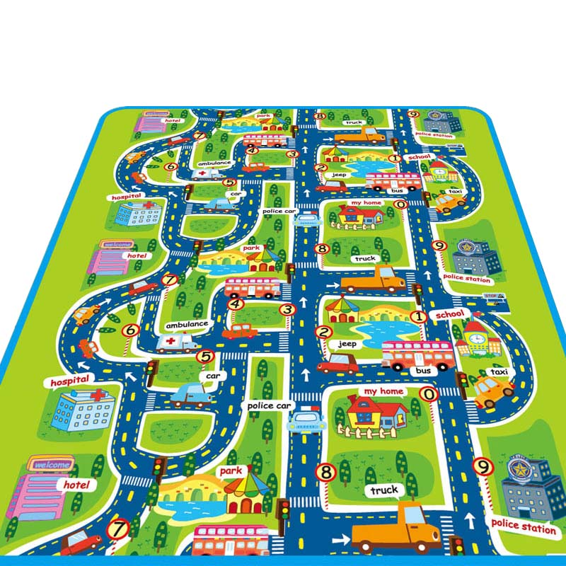 City Road Play Mat For Children Carpets For Children Carpet Baby Toys Rugs Developing Play <font><b>Puzzle</b></font> Mat Mats Goma Eva Foam mats