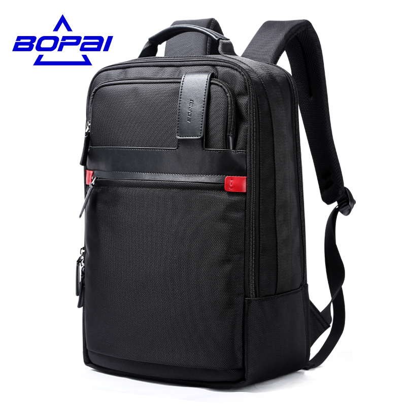 BOPAI Multifunctional Large Capacity 15.6 Inch Laptop Bag Man Backpack Bag Black Backpack for men School Bags Mochila Masculina 2017 backpack laptop bag mochila masculina men large capacity nylon compact men s backpacks unisex women bagpack school bags