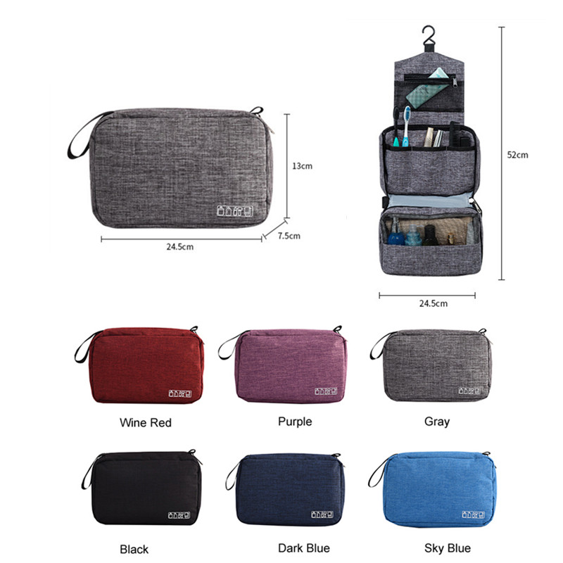 Multi Function Storage Bag Waterproof Travel Hanging Organizer Portable Luggage Organizer Bathroom Toiletry Cosmetic Makeup Bags-in Storage Bags from Home & Garden