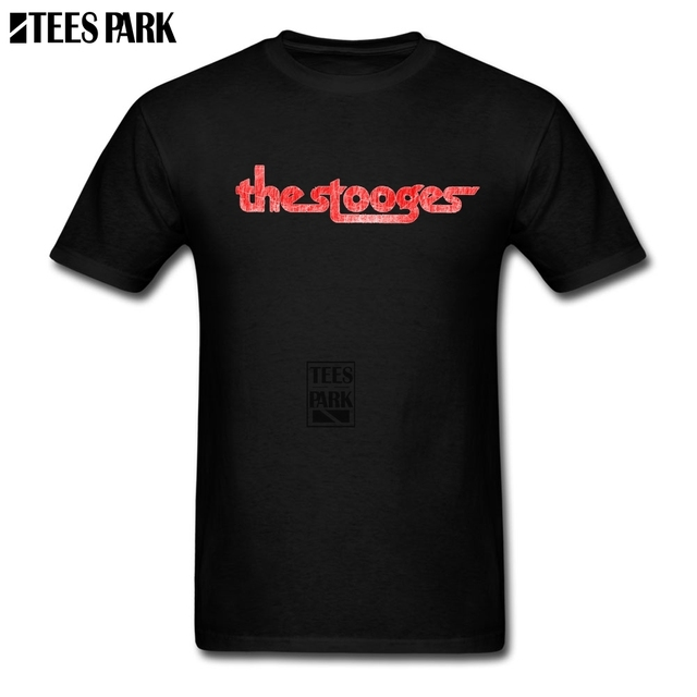 a019e61e Funky The Stooges distressed Retro T Shirts Men O Neck Tee Shirt High  Quality Teenage Discount T Shirt Dress Plus Size