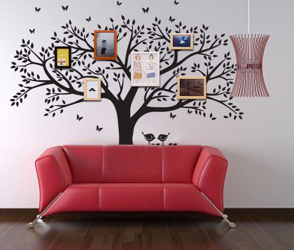 Large family tree wall decal peel stick easy to apply decor mural large family tree wall decal peel stick easy to apply decor mural for home bedroom stencil decoration diy photo gallery frame in wall stickers from home saigontimesfo