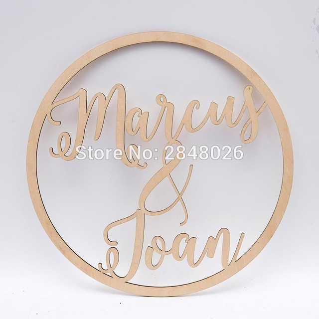 Personalized Custom WOOD//ACRYLI Text Name Plaque Sign for Wedding Birthday Party