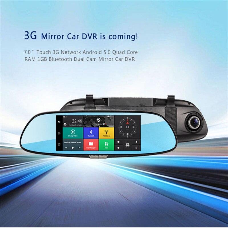 mksup 7.0&#8243; Full <font><b>HD</b></font> 1080P Car DVR GPS <font><b>160</b></font> Degree Dual Lens Car Dash Cam Recorder Parking Monitor Radar Detector GPS Navigation
