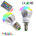 Новый E14 E27 RGB СВЕТОДИОДНЫЕ Лампы 5 Вт 16 Изменение Цвета Лампы СВЕТОДИОДНЫЙ Прожектор + ИК-Пульт Дистанционного Управления AC85-265V Рождество украшения Огни