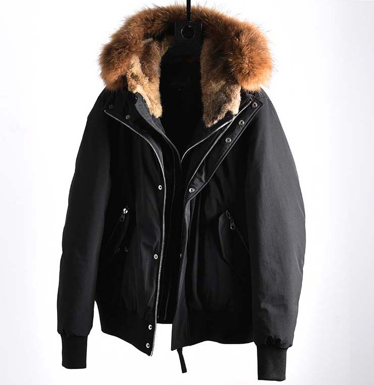 2019 men's duck   down     coat   with raccoon fur dog hood puffy warm parkas jacket male black plus big large oversized