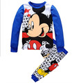 Children's pajamas set autumn fashion cartoon baby boys clothing set 100% cotton pajamas Children Mickey Sleepwear k32