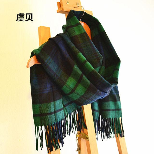 Faux cachemire basique châle hiver vert plaid couverture écharpe cape chaud  pashmina unisexe acrylique foulards hommes cd166af5605