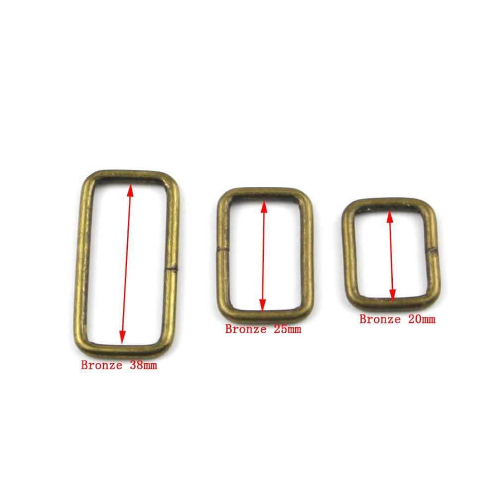 10 stks/partij Metalen Verstelbare Rechthoek D Ring Riem Lint Gesp Voor Rugzakken schoenen Tas Kat Halsband Gespen DIY Accessoires
