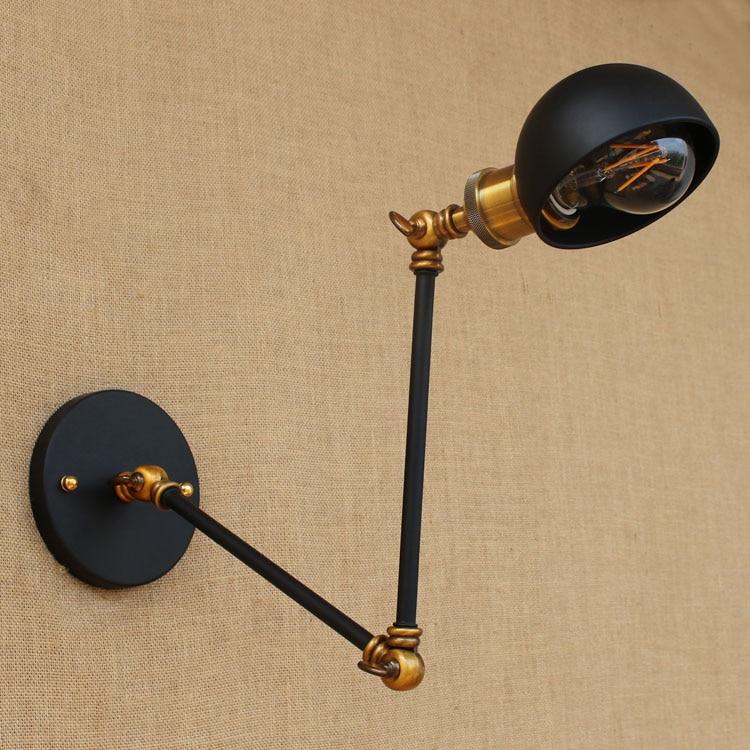 Loft stílusú retro vintage fali lámpa, rusztikus, lengő karos, - Beltéri világítás - Fénykép 2