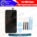 UMI Súper LCD Display + Touch Screen Digitizer + Frame montaje 100% Nuevo Original del LCD + Digitalizador Táctil para Super + herramientas