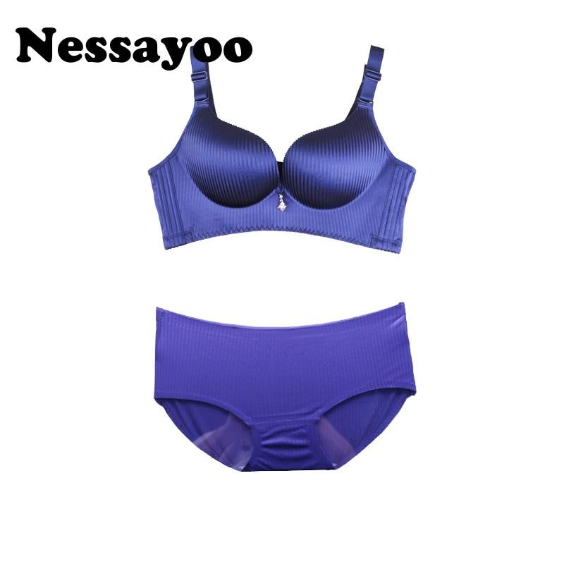 e290d40c4b9d Sexy Women Bra Set Adjustable Seamless Bra Brief Sets Lady Brassiere Suit  Lingerie Push Up Bra ...