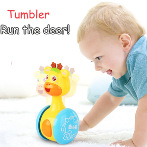 Baby Rattles Tumbler Doll Toys Bell Musi