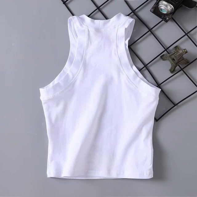 Harajuku Cat Printed Women Tanks Crop Top Female Short Sleeveless Tee Cotton Summer Women'S Clothing