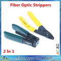 2 Em 1 Ferramentas com CFS-2 Fibra Óptica Stripper de Fibra Óptica Stripping AUA e FTTH Gota Cable Stripper