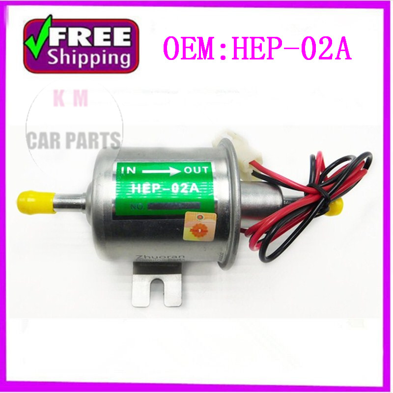 High quality free shipping Universal Diesel Petrol Gasoline Electric Fuel Pump HEP-02A Low Pressure 12V HEP02A electronic fuel pump hep 02a 12v 24v car modification gas diesel low pressure petrol for motorcycle toyota ford yanmar nissan