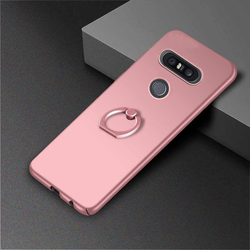 Чехол для LG q6 плюс Q8 V30 V20 V10 G7 G6 G5 чехол с кольцом Stander Матовая Телефон задняя крышка принципиально Coque