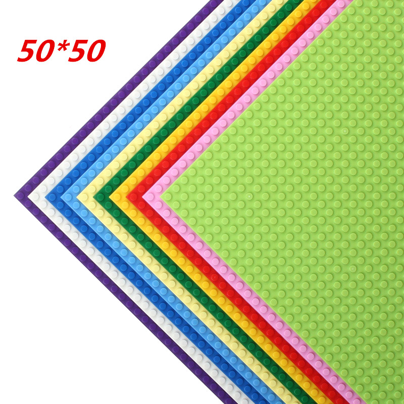 50*50 Dots Quality BasePlate Compatible With LegoINGlys Building Blocks DIY Base Plate 40*40cm Educatioinal Bricks Toys For Kids