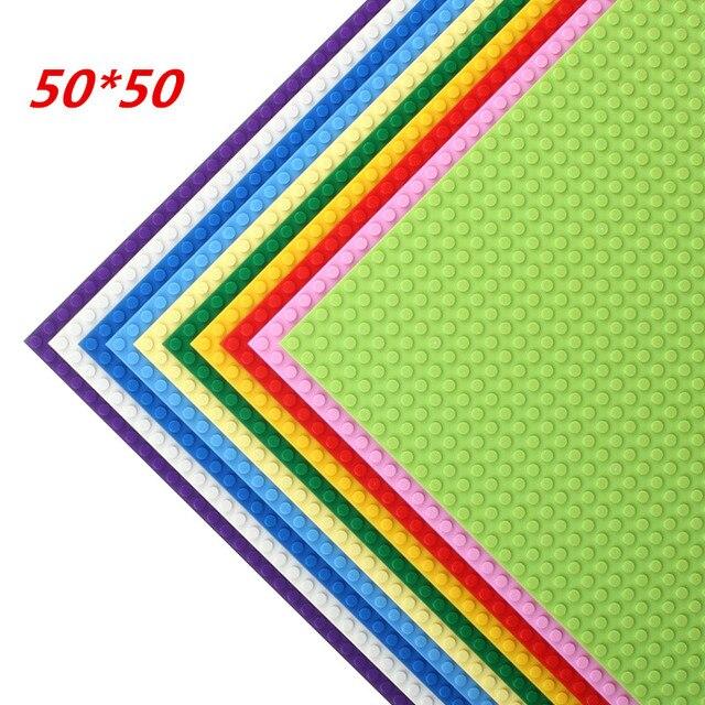 50*50 Dots Quality BasePlate Compatible All Major Brand Building Blocks DIY Base Plate 40*40cm Educatioinal Bricks Toys for Kids