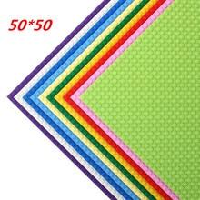 50*50 نقطة جودة اللوح متوافق Legoed اللبنات لتقوم بها بنفسك قاعدة لوحة 40*40 سنتيمتر التعليمية الطوب لعب للأطفال